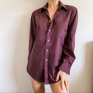 VTG Christian Dior Burgundy Purple Button Down